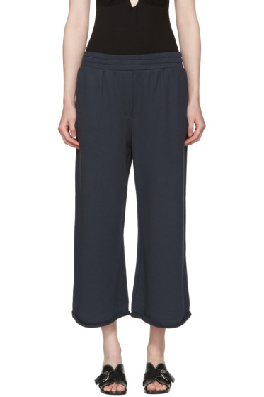 T by Alexander Wang - Navy Wide Pull-On Lounge Pants