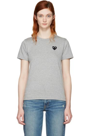 Comme des Garçons Play - Grey Small Heart T-Shirt