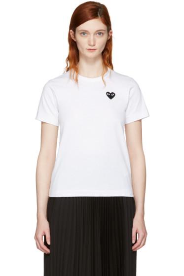 Comme des Garçons Play - White Small Heart T-Shirt
