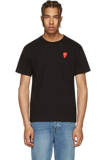 Comme des Garçons Play - Black Long Heart T-Shirt