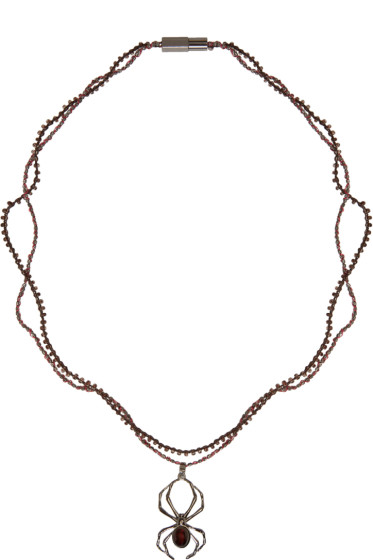 Lanvin - Gunmetal Spider Necklace