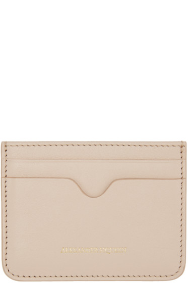 Alexander McQueen - Pink Leather Card Holder
