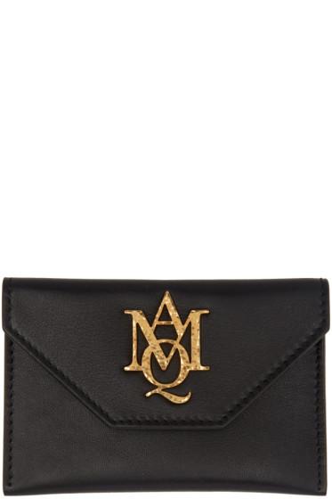 Alexander McQueen - Black Insignia Envelope Card Holder