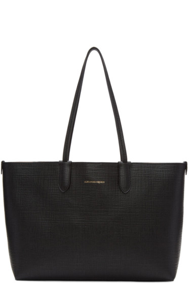 Alexander McQueen - Black Small Shopper Tote