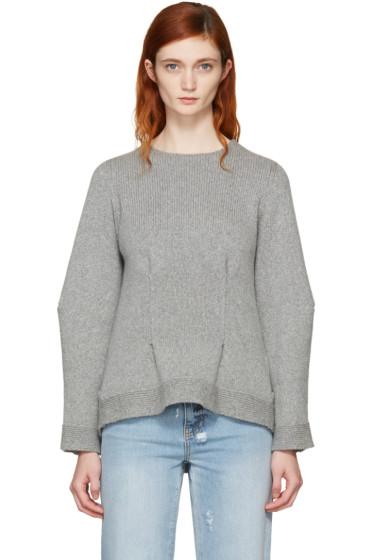 Alexander McQueen - Grey Cashmere Crewneck Sweater