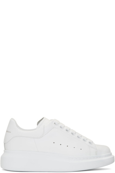 Alexander McQueen - SSENSE Exclusive White Oversized Sneakers