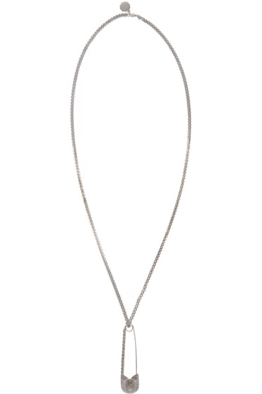 Alexander McQueen - Silver Oversized Safety Pin Necklace