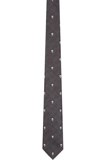 Alexander McQueen - Black 'Prince of Wales' Tie