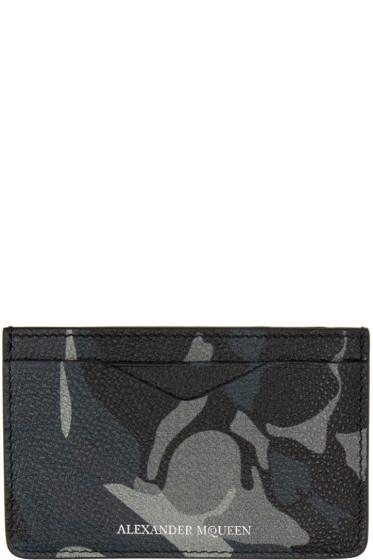 Alexander McQueen - Blue Camo Card Holder