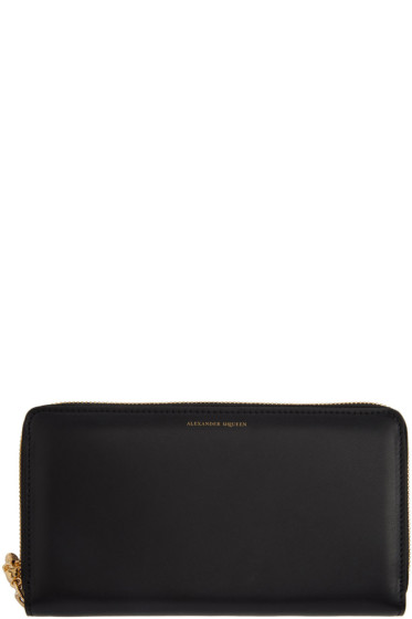 Alexander McQueen - Black Skull Continental Zip Around Wallet