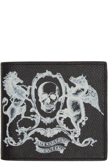 Alexander McQueen - Black 'Coat of Arms' Bifold Wallet
