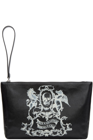 Alexander McQueen - Black Medium 'Coat of Arms' Pouch