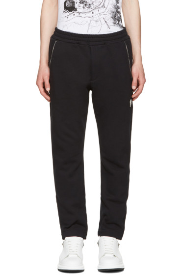 Alexander McQueen - Black Zip Detail Lounge Pants