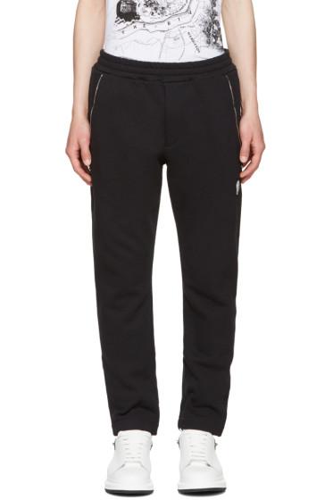 Alexander McQueen - Black Zip Detail Lounge Pants