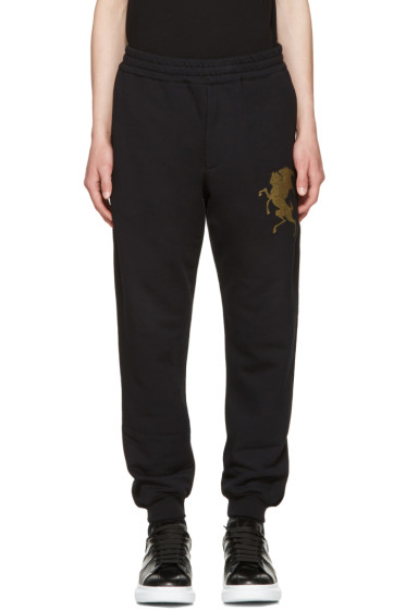 Alexander McQueen - Black 'Coat of Arms' Lounge Pants