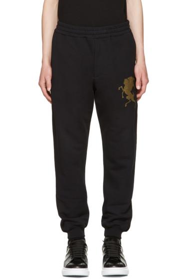 Alexander McQueen - Black 'Coat of Arms' Lounge Pants
