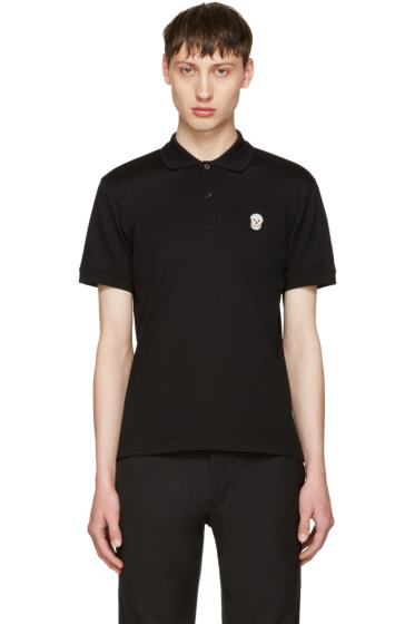Alexander McQueen - Black Classic Bullion Skull Patch Polo