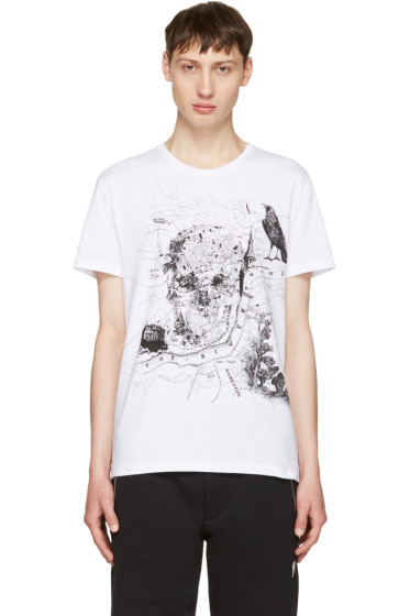 Alexander McQueen - White London Map T-Shirt