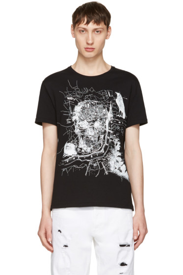 Alexander McQueen - Black London Map T-Shirt
