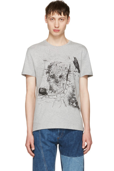 Alexander McQueen - Grey London Map T-Shirt