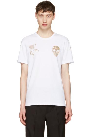Alexander McQueen - White Bullion T-Shirt
