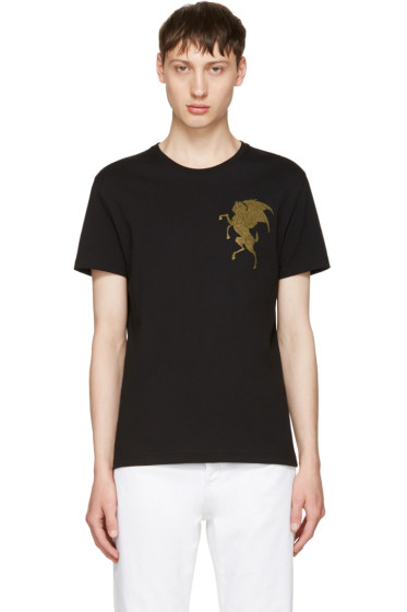Alexander McQueen - Black 'Coat of Arms' T-Shirt