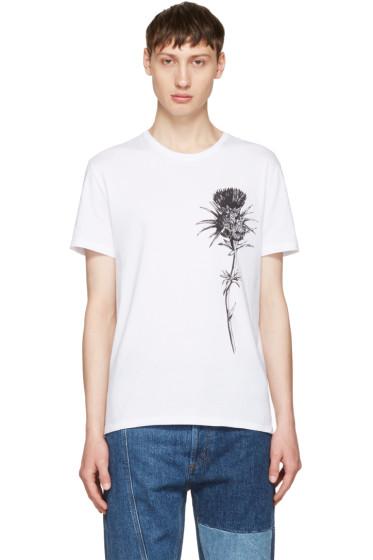 Alexander McQueen - White Thistle T-Shirt