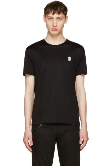 Alexander McQueen - Black Bullion Skull Patch T-Shirt