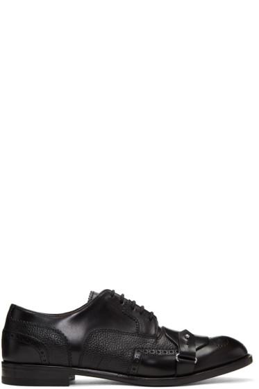 Alexander McQueen - Black Buckle Toe Brogues
