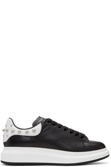 Alexander McQueen - Black Studded Oversized Sneakers