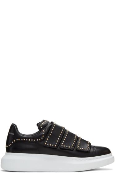 Alexander McQueen - Black Studded Straps Oversized Sneakers