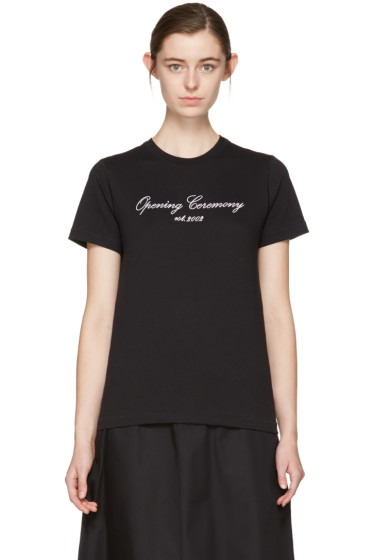 Opening Ceremony - SSENSE Exclusive Black Original Script T-Shirt