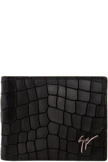 Giuseppe Zanotti - Black Croc-Embossed Zayn Wallet