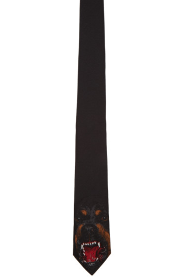 Givenchy - Black Rottweiler Tie