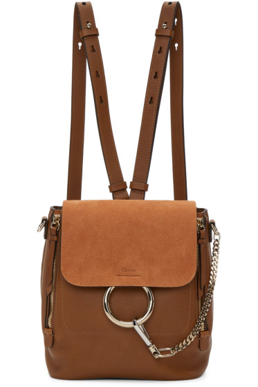 Chloé - Tan Small Faye Backpack