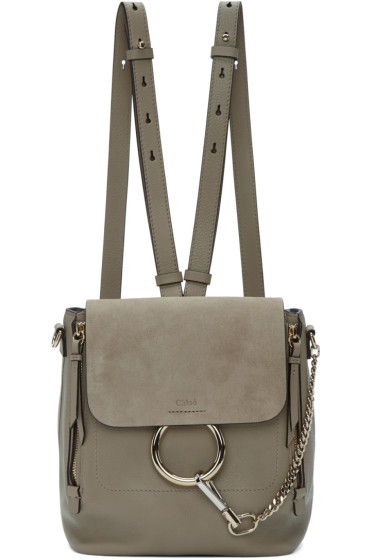 Chloé - Grey Small Faye Backpack