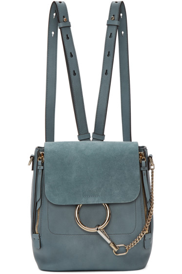 Chloé - Blue Small Faye Backpack