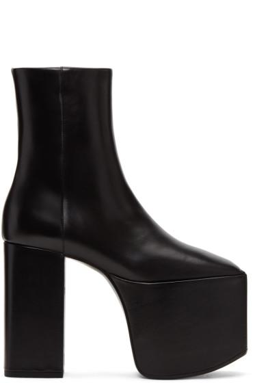 Balenciaga - ブラック プラットフォーム ブーツ