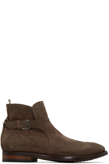 Officine Creative - Brown Princeton 60 Buckle Boots