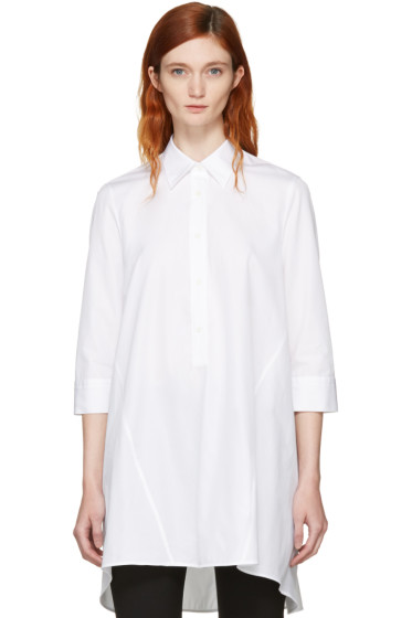 Neil Barrett - White Irregular Cut Flared Shirt