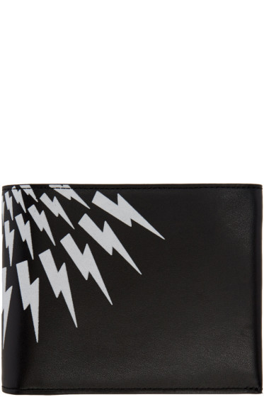 Neil Barrett - Black Classic Thunderbolt Wallet