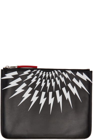 Neil Barrett - Black Thunderbolt Pouch
