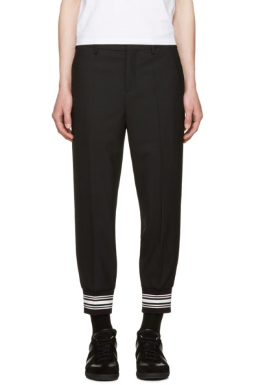 Neil Barrett - Black Striped Cuff Trousers