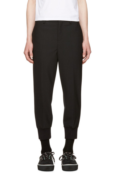 Neil Barrett - Black Rib Cuff Tailored Trousers