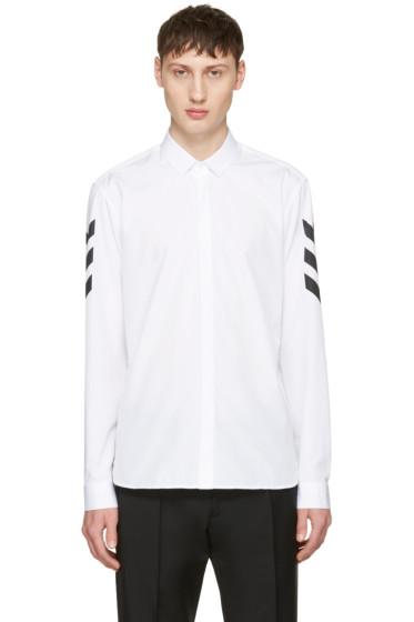 Neil Barrett - White Chevron Sleeve Shirt