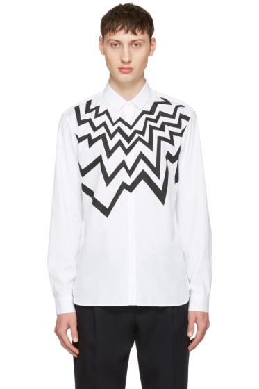 Neil Barrett - White Serrated Fairisle Shirt