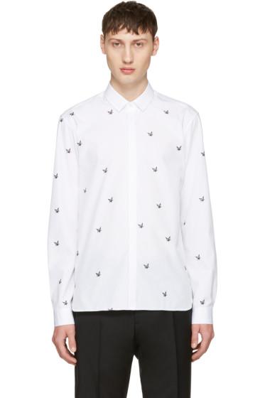 Neil Barrett - White Irregular Stars Shirt