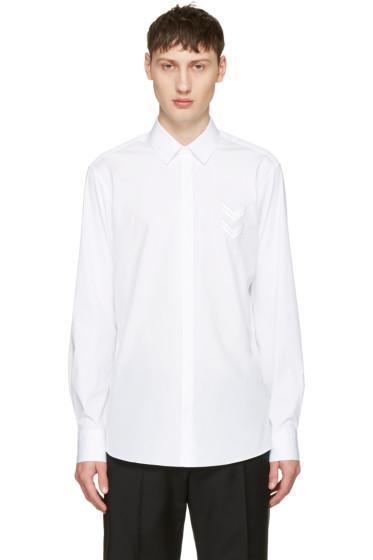 Neil Barrett - White Front Chevron Patch Shirt
