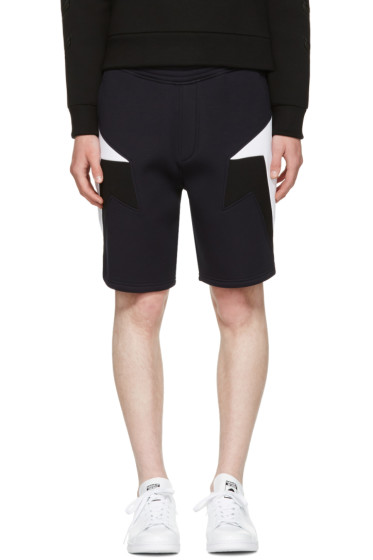 Neil Barrett - Navy Tricolor Modernist Shorts