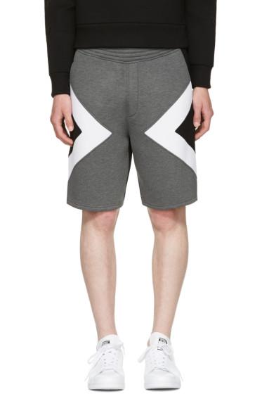 Neil Barrett - Grey Tricolor Modernist Shorts